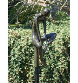 Eliassen Bronze garden stick Man