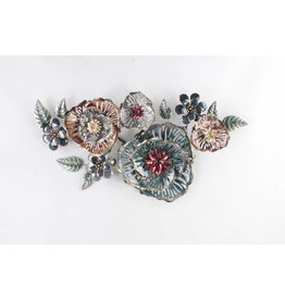 Eliassen 3d wand decoratie Bloemen metaal