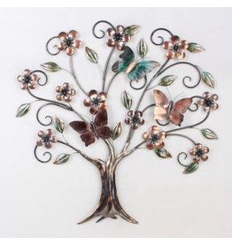 Eliassen 3D wall decoration Butterfly tree metal