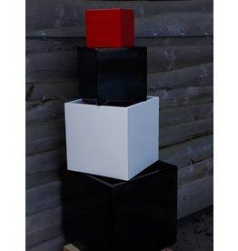 Eliassen Blumenkasten quadratisch Karz 20x20x20cm Hochglanz in 3 Farben