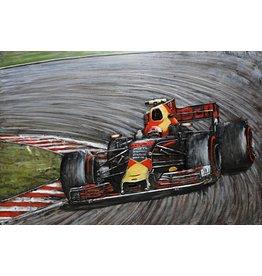 Eliassen Painting 3d Metal Formula 1 Red Bull 80x120cm