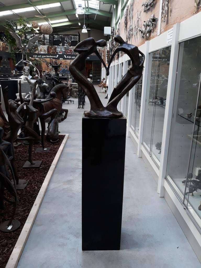 Eliassen Sokkel hoogglans Urta in wit of zwart 120cm