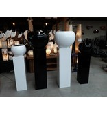 Eliassen Pot-zuil combinatie groot in wit of zwart