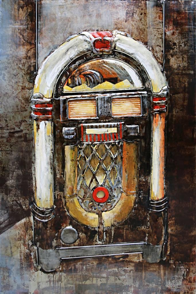 Eliassen 3d schilderij metaal Jukebox