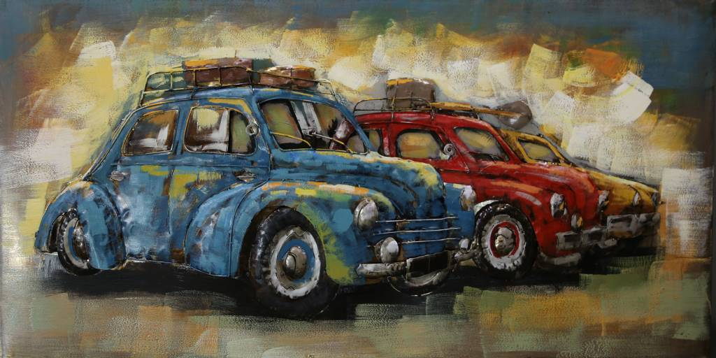 Eliassen Reihen-Autos des Metall-3d Malerei