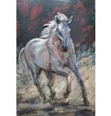 Eliassen Malerei Metall 3d 80x120cm Pferd Solo
