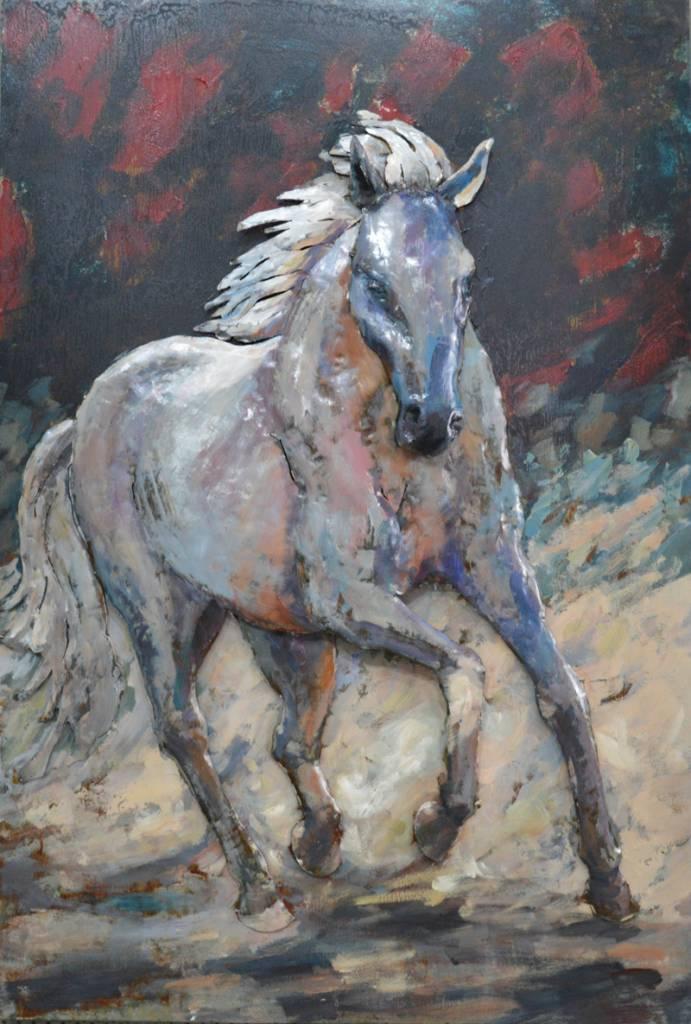 Nieuw Schilderij metaal 3d 80x120cm Paard - Eliassen Home & Garden Pleasure CE-34