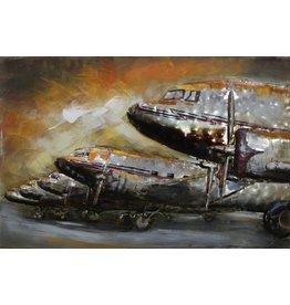 Eliassen Painting metal 3d 80x120cm Row aircraft