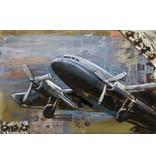 Eliassen Schilderij metaal 3d 80x120cm Opstijgend vliegtuig