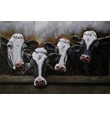 Eliassen Malerei Metall 3d 80x120cm Kühe 4