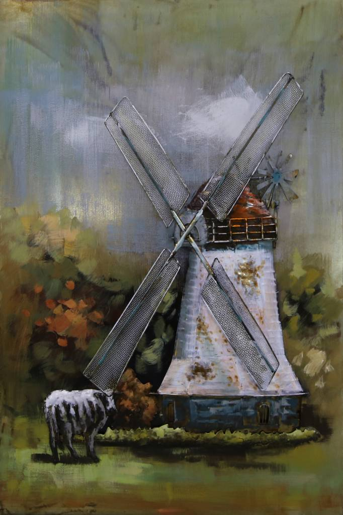 Eliassen Schilderij metaal 3d 80x120cm Molen