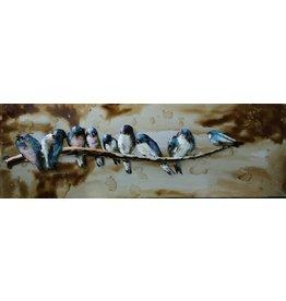 Eliassen 3D painting 90x30cm Birds on a branch