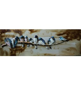 Eliassen 3D painting 90x30cm Birds on branch