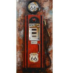 Eliassen Metalen schilderij 3d 60x120cm Pomp