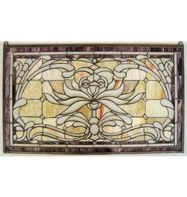 Eliassen Glas in lood raam 52x88cm  Artz