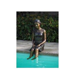 Eliassen Sitzendes Mädchen aus Bronze