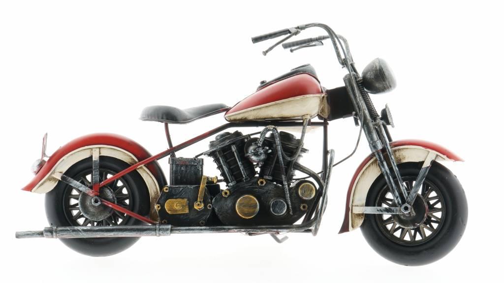 Eliassen Miniatuurmodel blik Motor rood-wit