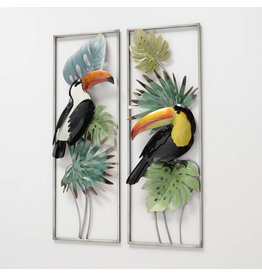 Eliassen Muurdecoratie 3d tweeluik Vogels