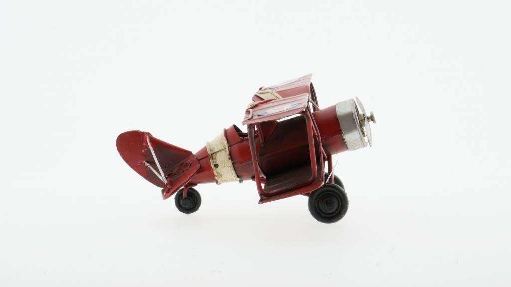 Eliassen Miniaturmodell Flugzeug rot klein