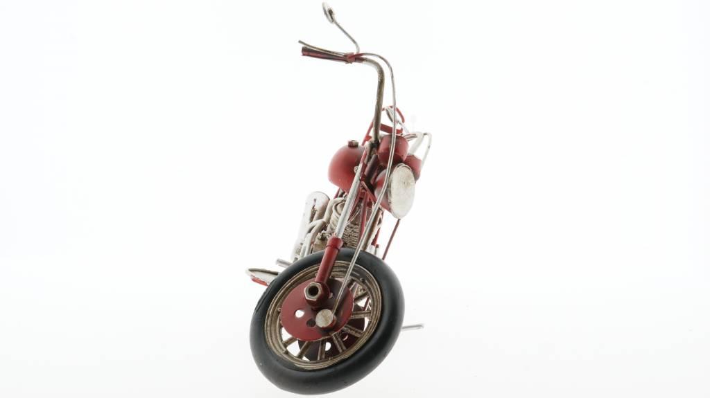 Eliassen Miniatuurmodel blik Harley Motor rood