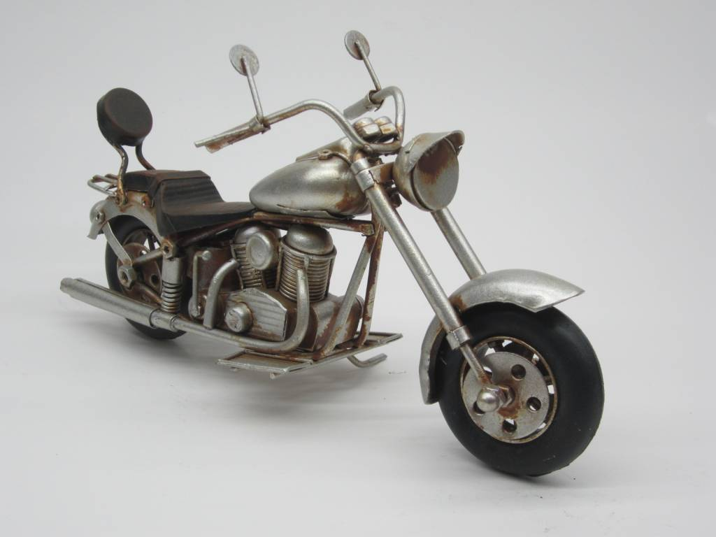 Eliassen Miniatuurmodel blik Harley Motor rood - grijs