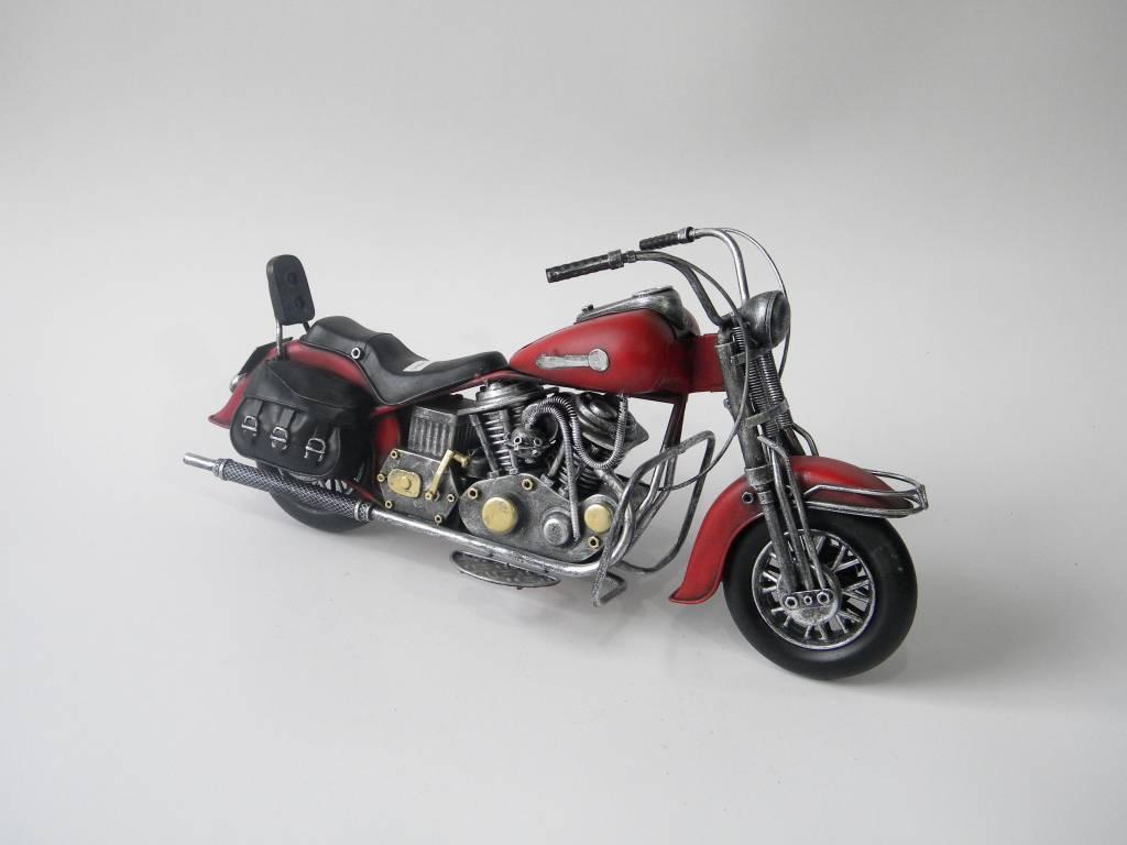 Eliassen Miniatuurmodel blik Harley Motor met tassen