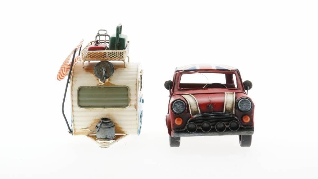 Eliassen Miniatuurmodel blik Auto en caravan combinatie