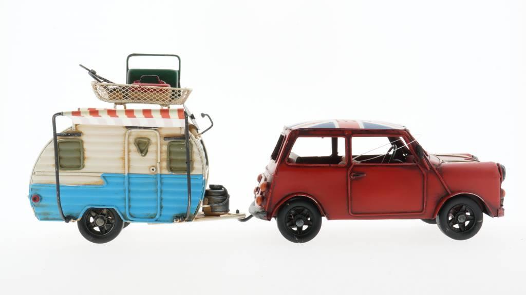 Eliassen Miniatur-Modelldose Auto- und Wohnwagenkombination