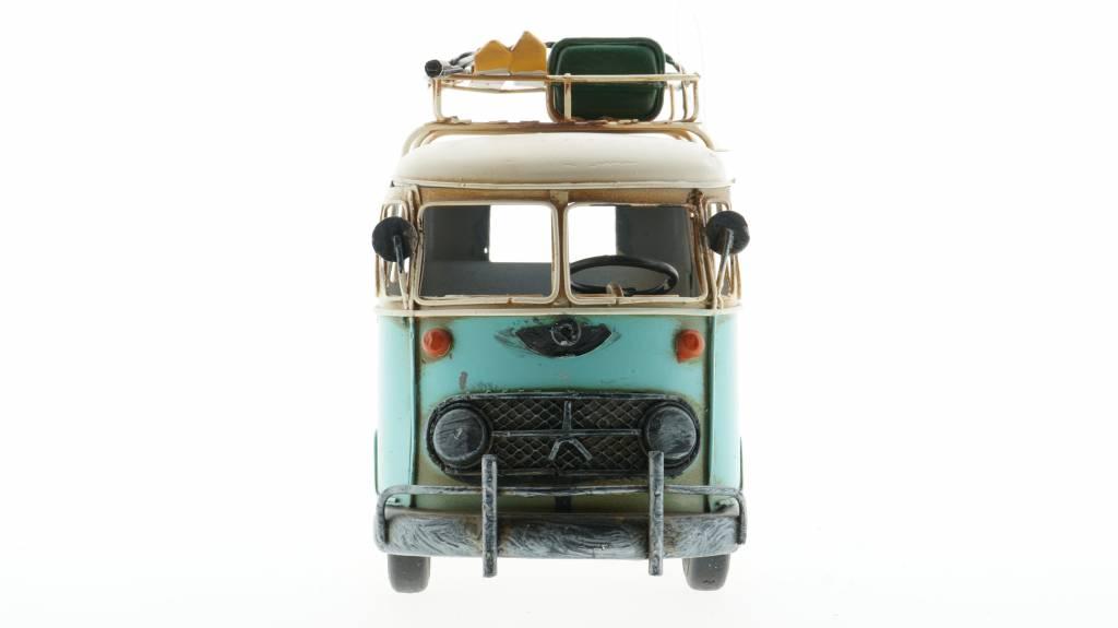 Eliassen Miniatuurmodel blik Bus blauw
