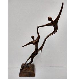 Eliassen Bronzestatue Paar Engel