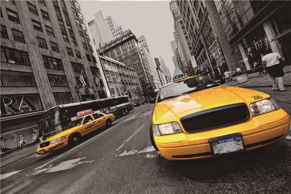 Eliassen Wanddekoration Glas 60x90cm Taxi