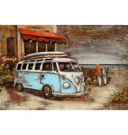 Eliassen 3D schilderij metaal 80x120cm Bus voor hotel
