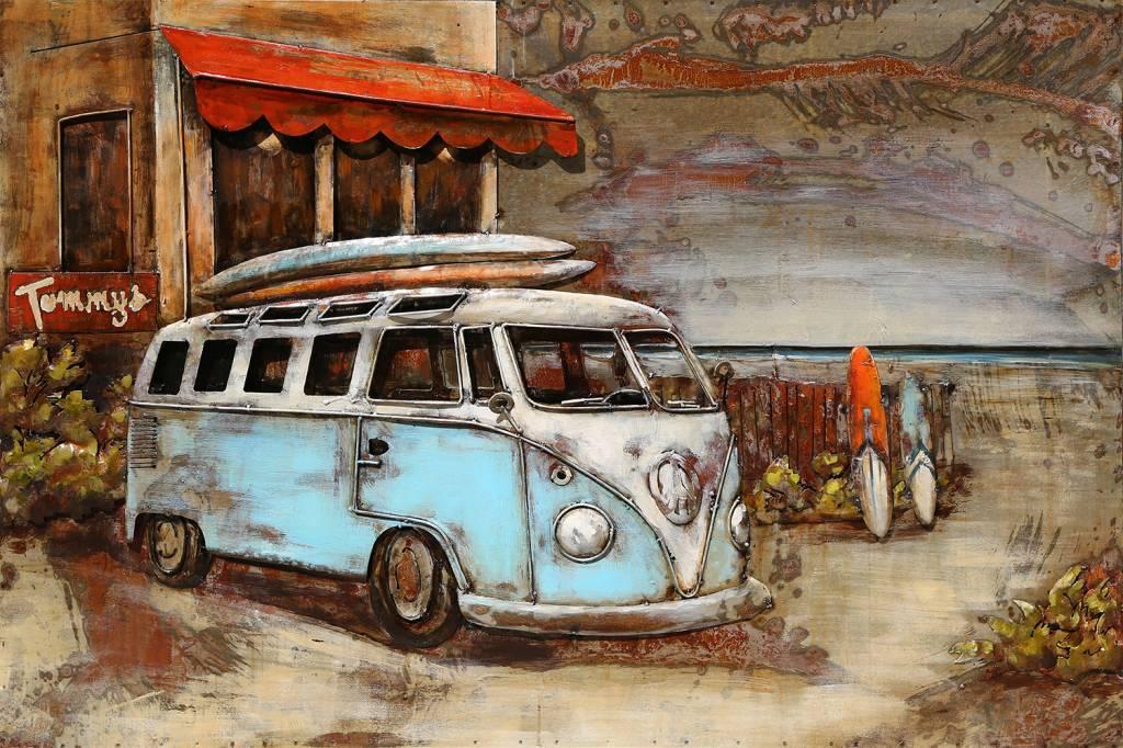 3d Schilderij Metaal.3d Schilderij Metaal 80x120cm Bus Voor Hotel