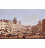 MondiArt Gemälde Glas 80x120cm Piazza Novana