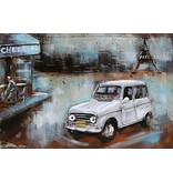 Eliassen Metaal schilderij 40x60cm Renault 4