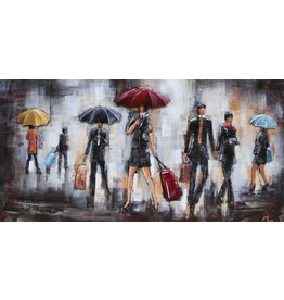 Metal painting 3d 60x120cm Rain