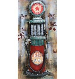 Metal painting 3d 60x120cm Red Star pump