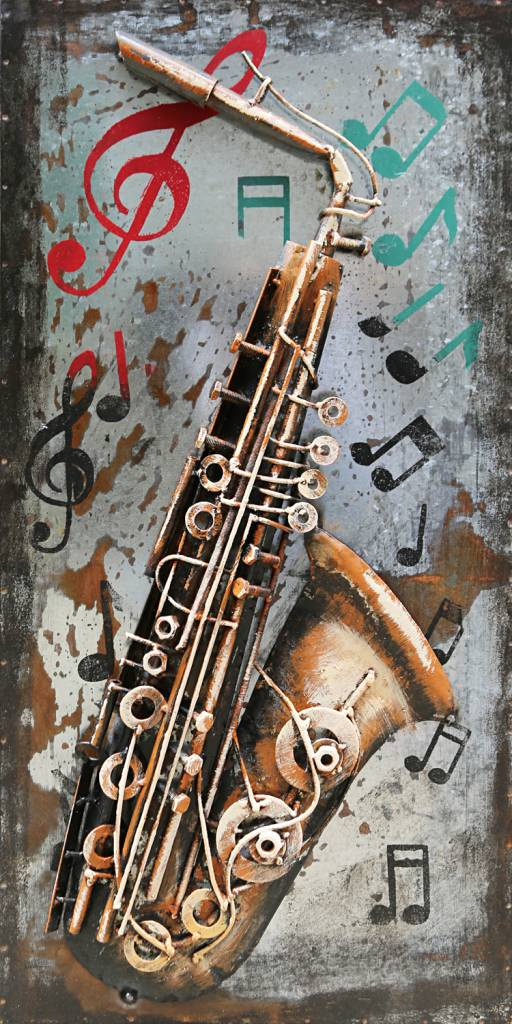 Eliassen Malerei 3d Eisen 40x80cm Saxophon