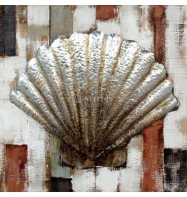 Eliassen Wood-metal 3D painting 80x80cm Shell