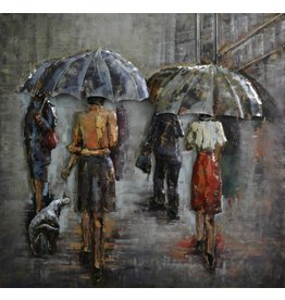3D painting Rain 100x100cm