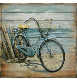 Painting 3D metal Bicycle 80x80xm