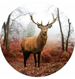 Gave Glass painting around Deer diameter 80cm