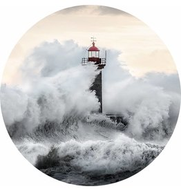 Gave Glass painting around Lighthouse diameter 80cm