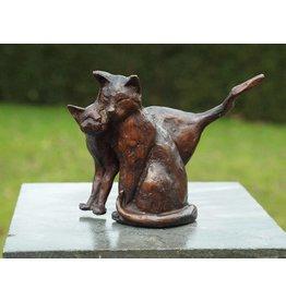 Bronzen beeld Koppel Poesjes