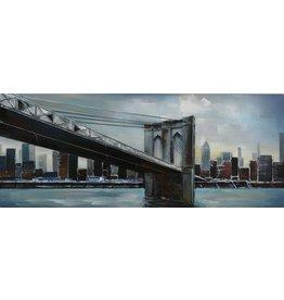 Gave Schilderij 3d metaal 60x150cm New York