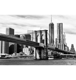 Gave Gemälde Glas 80x120cm Brücke New York