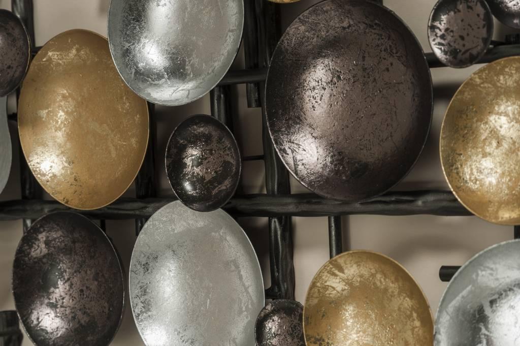 Muurdecoratie metaal 3D Calore