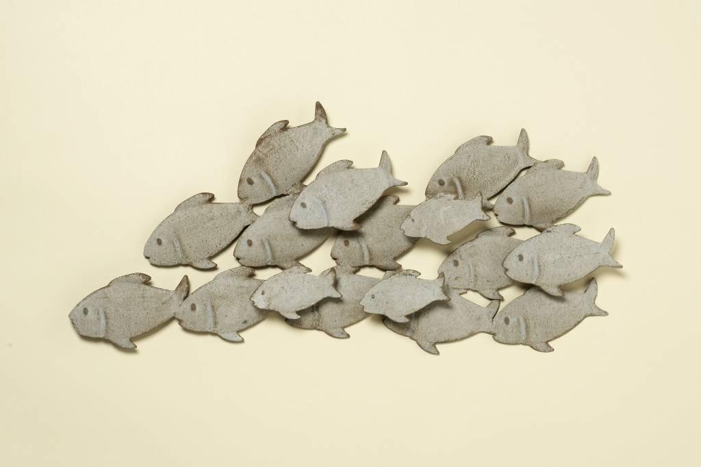 Muurdecoratie metaal 3D Guppies