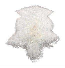 Schaffell tibetisch weiß