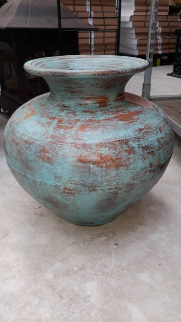 Eliassen Interieur Vaas  Polos Oud turquoise 50x60cm